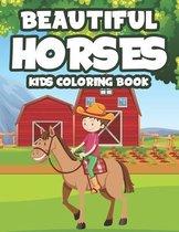 Beautiful Horses Kids Coloring Book