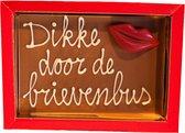 Broekmans Patisserie Chocolade kaart dikke kus door de brievenbus