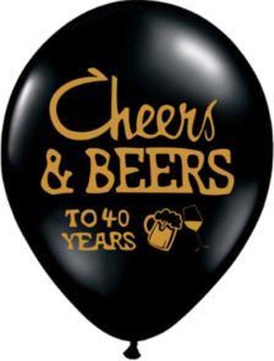 Ballon 40 jaar, Cheers and Beers, 10 stuks kindercrea
