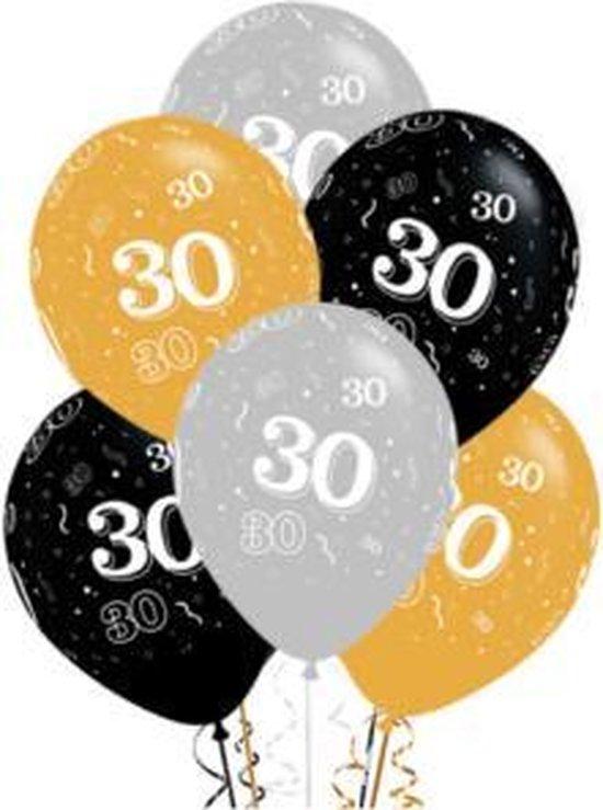 Ballon 30 jaar, 10 stuks kindercrea