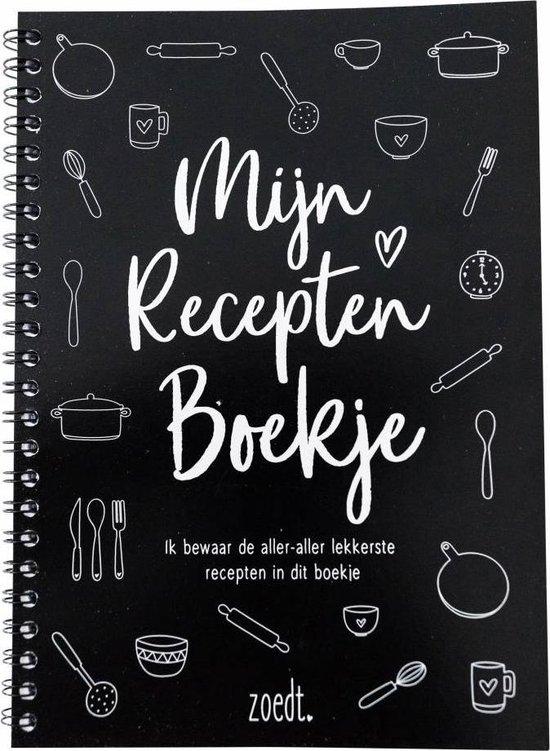 Afbeelding van Zoedt receptenboek – invulboek – A5-formaat - zwart / wit