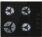 Klarstein Trifecta 4 gaskookplaat 4-pits triangel-pit glaskeramiek zwart