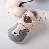 Hiden | Baby Anti-slip Sokjes - Pantoffels - Baby & Verzorging - 1-3 jaar | Grijze Beer