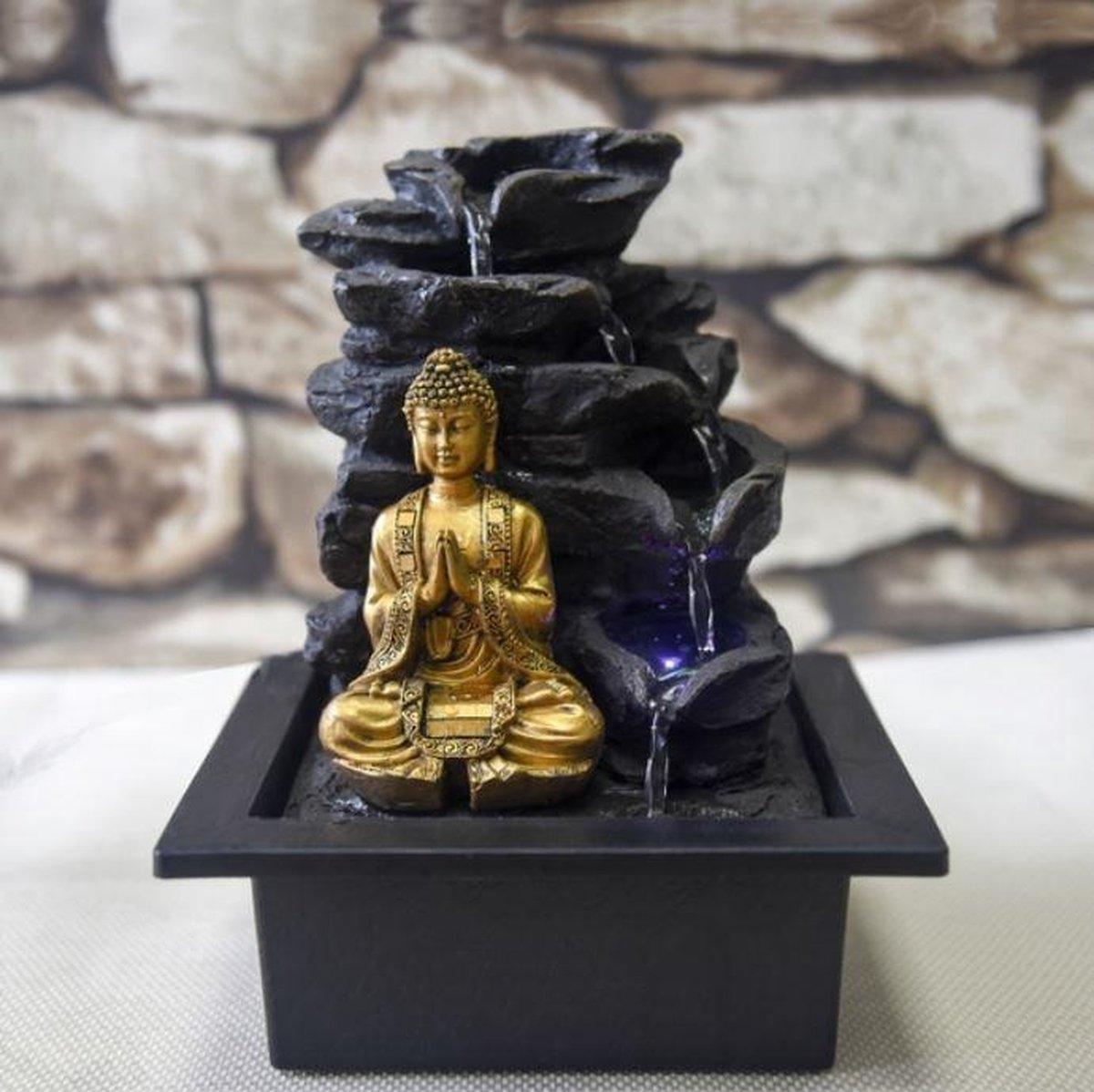 Boeddha Shira - fontein -interieur - fontein voor binnen - relaxeer - zen - waterornament - cadeau - geschenk - relatiegeschenk - origineel - lente - zomer - lentecollectie - zomercollectie - afkoeling - koelte