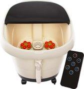 Calmenta® Luxe Voetenbad – 15L - 6 Automatische Massagerollers –Touchscreen - Warmtefunctie – Infrarood - 4 Massage Programma's - Voetmassage