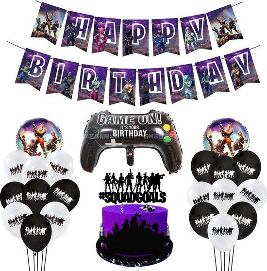 Fortnite versiering - Fortnite feestartikelen - Fortnite slingers - Fortnite verjaardag - Fortnite feest - Fortnite ballonnen