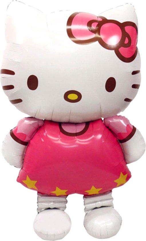 Hello Kitty Ballon - XL GROOT - 116 x 68 CM - Inclusief Opblaasrietje - Ballonnen - Ballonnen Verjaardag - Helium Ballonnen - Folieballon