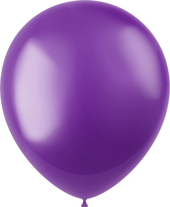 Paarse Ballonnen Metallic Violet Purple 33cm 50st
