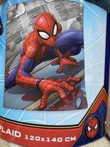 Plaid in fleece voor jongens | Deken |120 x 140 cm | Spiderman | Extra groot