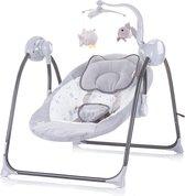 Elektrische babyschommel Chipolino Hug grijs mist, geschikt voor newborns 0+