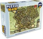 Puzzel 500 stukjes Historische stadskaarten - Historische stadskaart van Zutphen  - PuzzleWow heeft +100000 puzzels