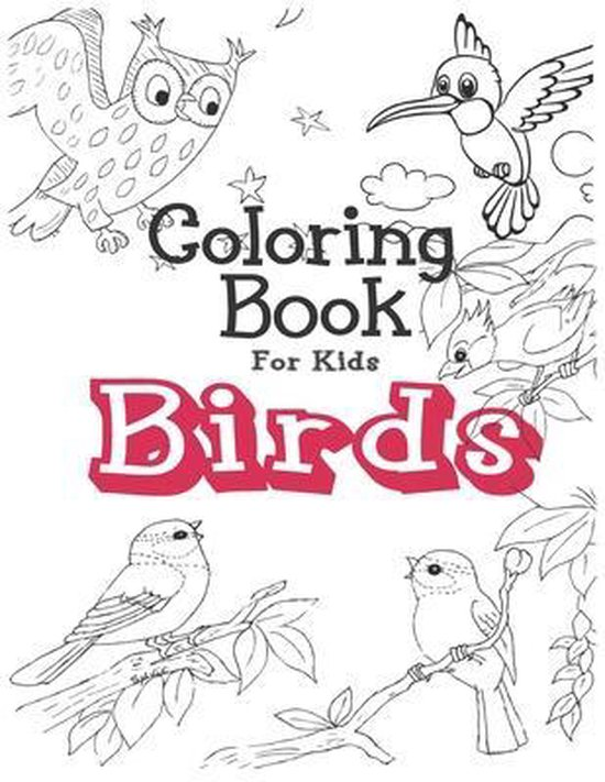 Coloring Book for kids BIRDS