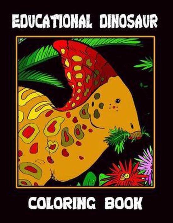 Educational Dinosaur Coloring Book