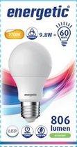 Energetic - GLS A60 Led Lamp Mat E27 9,8W Vervangt 60W 2700K Dimbaar - 3 stuks