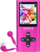 Difrnce MP1851 - MP4 speler - 4 GB - Roze