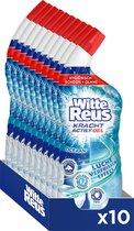 Witte Reus Kracht Actief Gel Oceaan - Toiletreiniger - Voordeelverpakking - 10 x 700ml