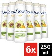 Dove Nourishing Secrets Strengthening Shampoo - 6 x 250 ml - Voordeelverpakking