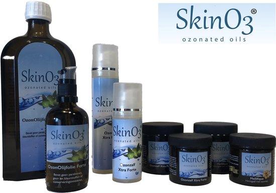 SkinO3 Ozonzalf Xtra Forte - 100ml - 100% Pure OzonOlijfolie - glazen pot met creme spatel