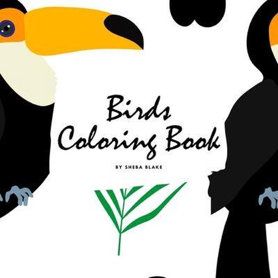 Birds Coloring Book for Children (8.5x8.5 Coloring Book / Activity Book)