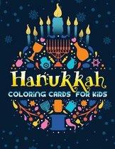Hanukkah Coloring Cards For Kids