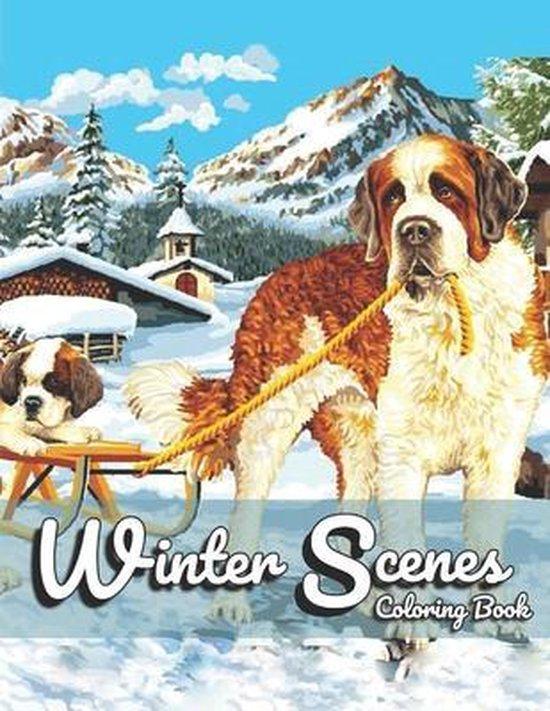 Winter Scenes Coloring Book
