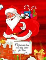 Christmas time coloring book for kids