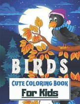 Birds Cute Coloring Book for kids