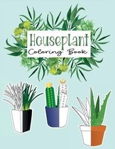 Houseplant Coloring Book