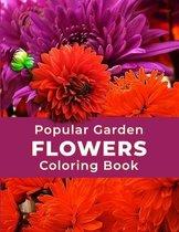 Popular Garden Flowers Coloring Book