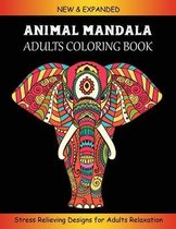 Animal Mandala Adults Coloring Book