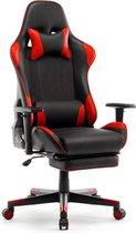 Game Hero Gaming Stoel MW2 - Bureaustoel - Verstelbare Armleuningen - Stoel Met Hoofdkussen - Rood