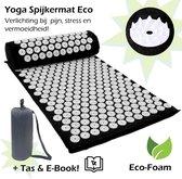 Yoga Spijkermat, hét Shiatsu Massagekussen bij rugpijn en nekpijn – Massagemat - Zwart