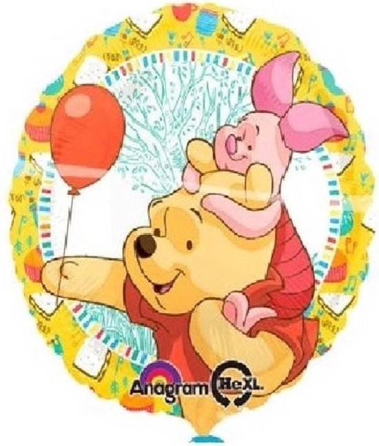 Folieballon WINNY DE POOH-KNORRETJE 18 inch=45 cm