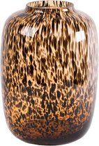 Cheetah vaas Artic | Bruin| Medium| Ø25 x H35 cm | Vase The World
