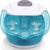 Qumax Elektrisch Verwarmd Voetenbad met massage Rollers – Voetmassage met Vibratie en Bubbels – Incl LCD scherm – Tot 48° graden