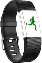 Fitbit Charge 2 sportbandje (Large) - Zwart - Fitbit charge bandjes