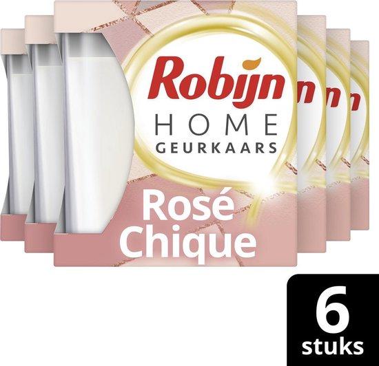 6x Robijn Geurkaars Rose Chique 115 gr