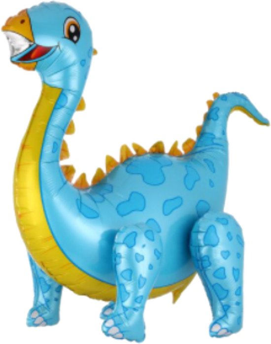 Dinosaurus Ballon - Dino - Ballon - Ballonnen - Helium Ballonnen - Dino Ballon - 58 x 92 cm - Blauw