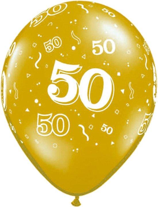 Folat Ballonnen 50 Jaar 28 Cm Latex Goud 25 Stuks