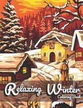 Relaxing Winter Coloring Book