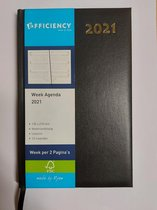 Ryam-agenda - 2021- 1 week per 2 pagina's-zwart