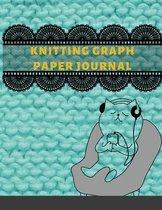 Knitting Graph Paper Journal: Knitters Graph Paper Notebook 4
