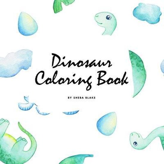 Dinosaur Coloring Book for Children (8.5x8.5 Coloring Book / Activity Book)