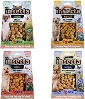 Insecta Nibbles 4 Mix Proefpakket Insecten Snacks Meelworm, Zwarte Soldatenvlieg Krekel Zijderups