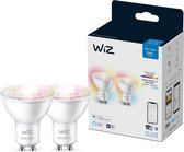 WiZ Spot Slimme LED Verlichting - Gekleurd en Wit Licht - GU10 - 50W - Wi-Fi - 2 stuks
