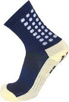 Gripsokken voetbal navy blue - donkerblauw - sportsokken - grip - anti blaren - compressie - prestatieverhogend - tennis - hardlopen - handbal - sporten - fitness