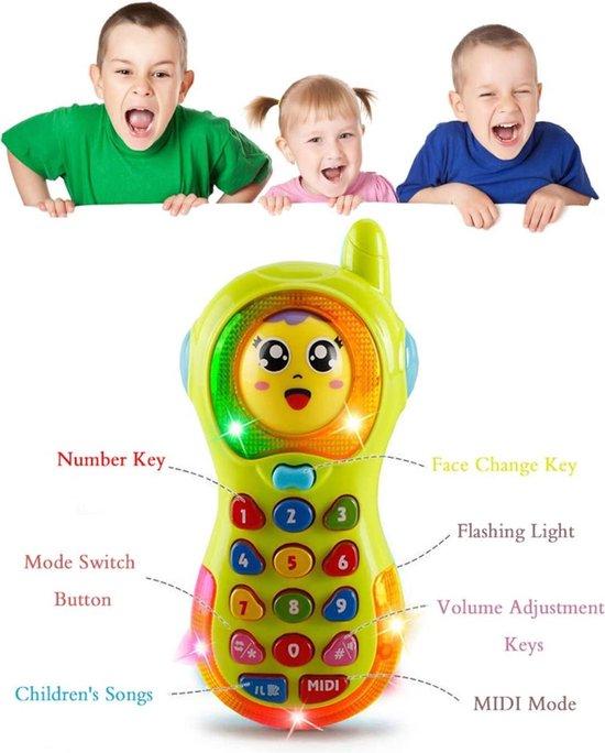 speelgoed meisjes/ speelgoed jongens/ speelgoed meisjes/ speelgoed jongens/ Babyfoon/ Babyspeelgoed Telefoon / Speelgoed voor 1-3 jaar oude Baby Jongens Meisjes Cadeau Telefoon / Kindertelefoon Speelgoed / Baby Peuters Verjaardagscadeau Baby (Geel)