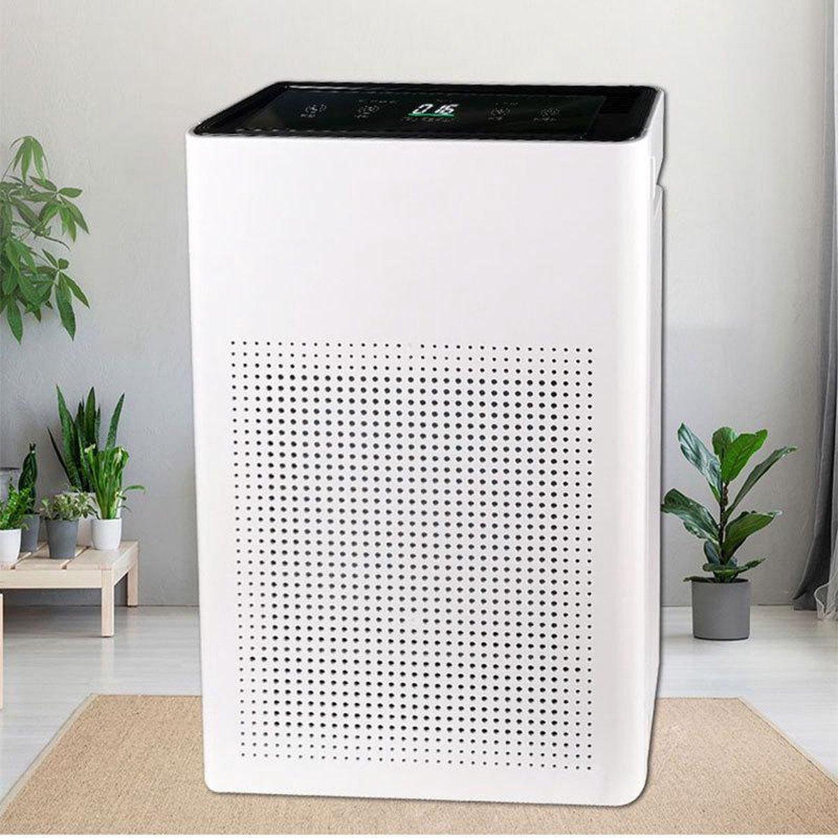 Pro-Care Luchtreiniger PM2.5, HEPA, IONEN Generator, 5 lagen filter, Wit 280m3h Intelligent Touch LCD bediening met afstandsbediening