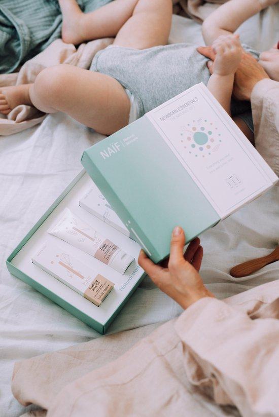 Naïf Natuurlijke baby verzorgingsset - Newborn Essentials –3 producten in geschenkset