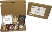 Brievenbuspakket speciaal 1 - Cadeaupakket - Snoep - brievenbus cadeau - cadeau voor man - verjaardag - Thuisblijvertjes -  Valentijn - Borrelpakket - goedkope cadeautjes - cadeau - eten - chocolade - vrouwen cadeautjes - cadeau voor vrouw - giftset
